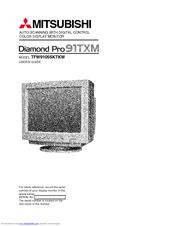 MITSUBISHI DIAMOND PRO 91TXM USER MANUAL Pdf Download