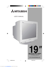 Manuals And User Guides For Mitsubishi Diamond Pro 930SB We Have 2 Available Free PDF Download Manual