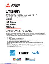 Mitsubishi Electric Unisen LT-40164 Basic Owner's Manual