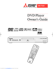 Mitsubishi Electric DD-7040 Owner's Manual
