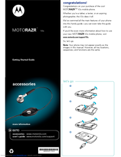 Motorola RAZR V3s Getting Started Manual