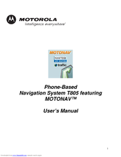 Motorola MOTONAV T805 User Manual