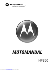 Motorola HF850 - Deluxe Bluetooth Car Motomanual