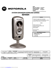 Motorola SD4504 Specifications