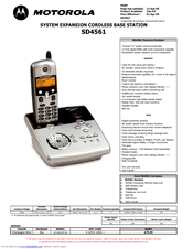Motorola sd4561 Features