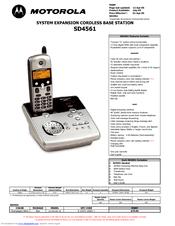 Motorola sd4561 User Manual