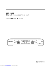 Motorola DCT2000 Installation Manual