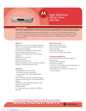 Motorola HDT100 Specifications
