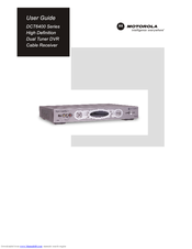 Motorola DCT6412 DUAL-TUNER DVR AND HD SET-TOP - MICROSOFT FOUNDATION User Manual