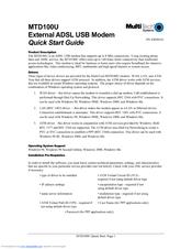 MULTITECH Modem MTD100U Drivers for Windows 10