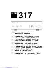 nad 317 owner s manual pdf download rh manualslib com Nad Components Review Nad 3155