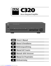 nad c320 service manual basic instruction manual u2022 rh ryanshtuff co nad c320bee user manual Parts Manual