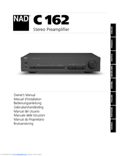 nad c162 manuals rh manualslib com Preamps Budget Nad C162 Preamplifier