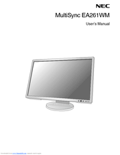 NEC MultiSync EA261WM User Manual