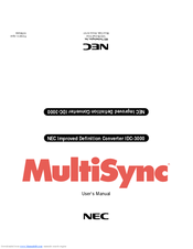 NEC MultiSync IDC-3000 User Manual