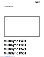 NEC S461-AVT User Manual