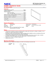 NEC 50XM4 INSTALLTION GUIDE V12S Installation Manual