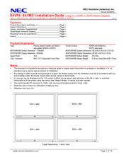 Nec plasmasync 42mp3 manuals.