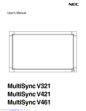 NEC MultiSync V461 User Manual