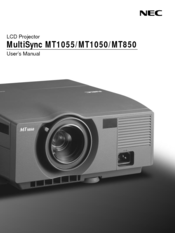 NEC MultiSync MT1055 User Manual