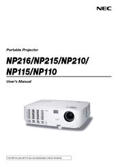 nec np110 user manual pdf download rh manualslib com Old NEC Projectors NEC Projector Model VT700