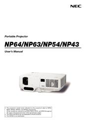 nec np43 series manuals rh manualslib com NEC NP2000 NEC NP1000 Projector LCD