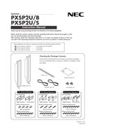NEC PX SP2U - Left / Right CH Speakers Instruction Manual