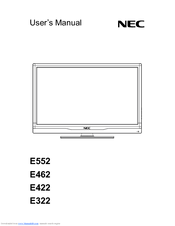 NEC E552 User Manual