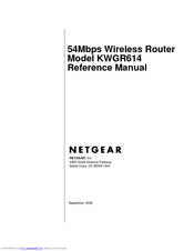 Netgear KWGR614 - 54 Mbps Wireless Router Manuals