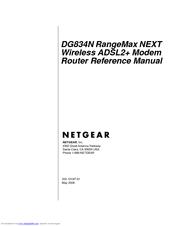Netgear DG834N Manuals