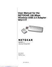 NETGEAR WG111T USER MANUAL Pdf Download