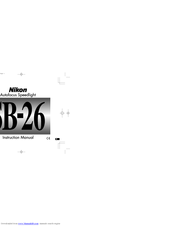 nikon sb 26 speedlight manuals rh manualslib com Nikon D90 Nikon SB 26 Review