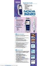 Nokia Cellphone 3220 Quick Start Manual