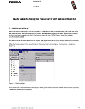 Nokia NAVIGATOR 6210 Quick Manual