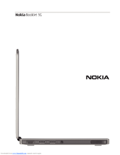 Nokia Booklet 3G Quick Start Manual