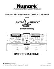 Numark CDN34S User Manual