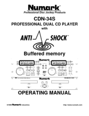 Numark CDN34S Operating Manual