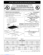 Electrolux EW30CC55GW - 30in Electric Cooktop Installation Instructions Manual