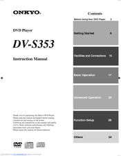Onkyo DV-S353 Instruction Manual