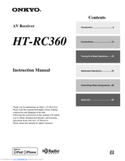onkyo ht rc360 manuals rh manualslib com onkyo ht-rc360 specs onkyo ht-rc360 service manual