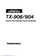 onkyo tx 906 manuals rh manualslib com onkyo tx 906 manual onkyo tx-906 service manual