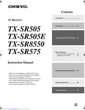 onkyo tx sr575 manuals rh manualslib com Onkyo Receivers TX Onkyo TX 8511 Manual