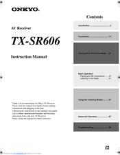 onkyo tx sr606 instruction manual pdf download rh manualslib com onkyo tx sr606 review onkyo tx sr606 review