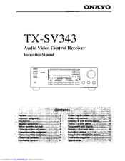onkyo tx sv343 instruction manual pdf download rh manualslib com Onkyo TX SR501 Onkyo TX Sr 75