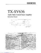 onkyo tx sv636 manuals rh manualslib com Onkyo TX NR808 onkyo tx-sv636 review