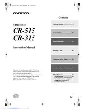 onkyo cr 315 instruction manual pdf download rh manualslib com onkyo cr 315 review