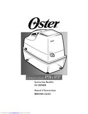 Oster 4736 Instruction Booklet