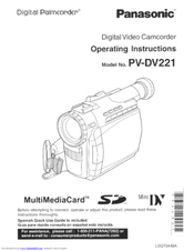 panasonic pv l759d manual