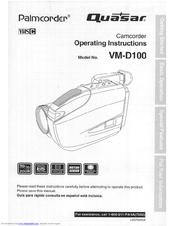 quasar vmd100 vhs c camcorder manuals rh manualslib com Quasar VCR Remote 1980s Quasar VCR Remote Control