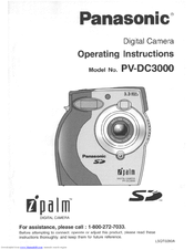Panasonic iPalm PV-DC3000 Operating Instructions Manual